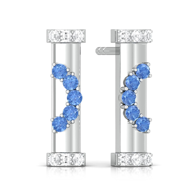 Blue lagoon Diamond Earrings