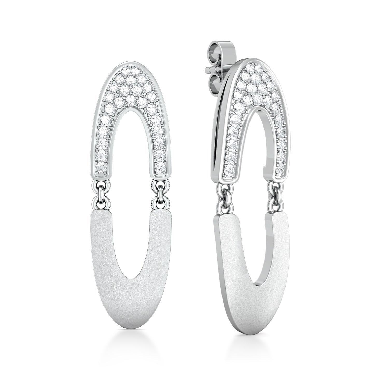 Elliptical Loop Diamond Earrings