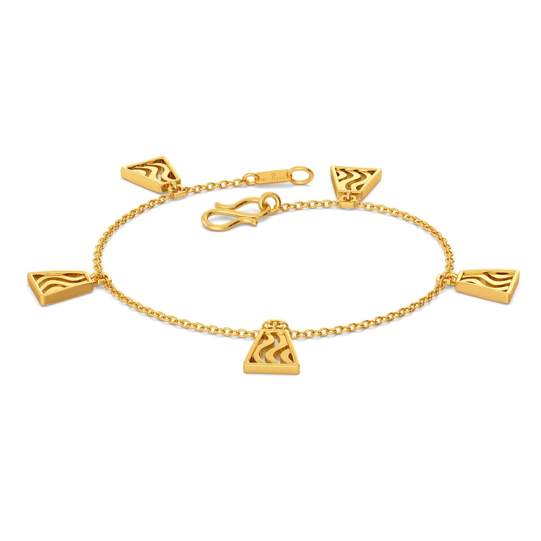 Swerve Curve Gold Bracelets