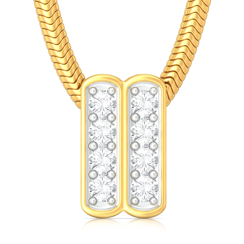 Spots and Stripes Diamond Pendants