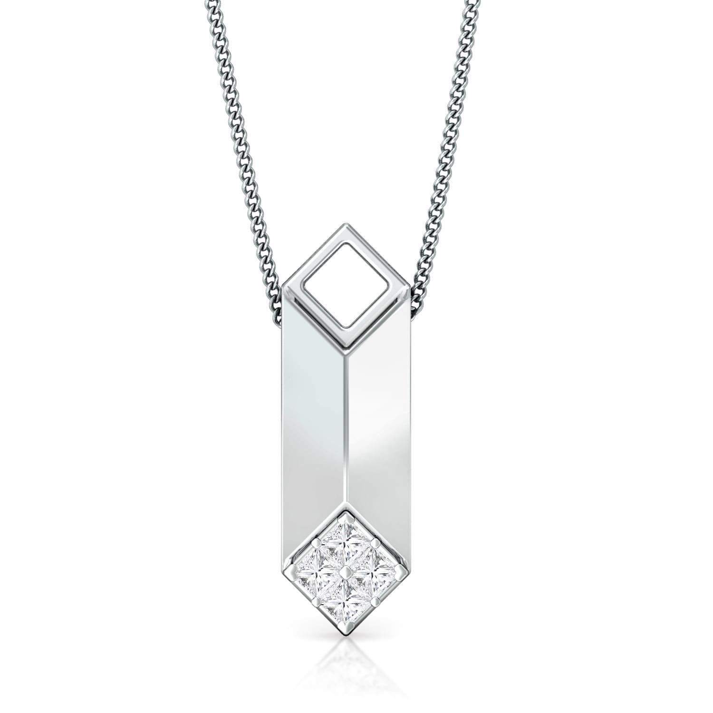 Constructive edge Diamond Pendants