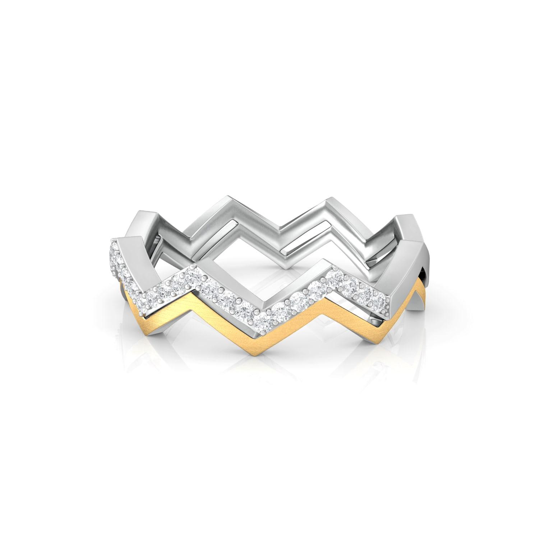 Tribal Chevrons Diamond Rings