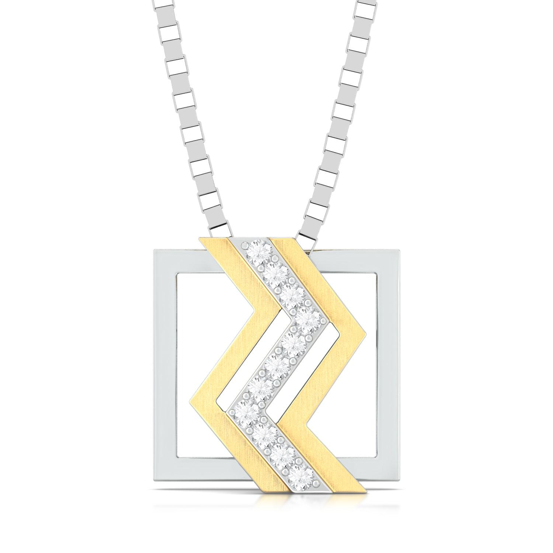 Tribal Chevrons Diamond Pendants