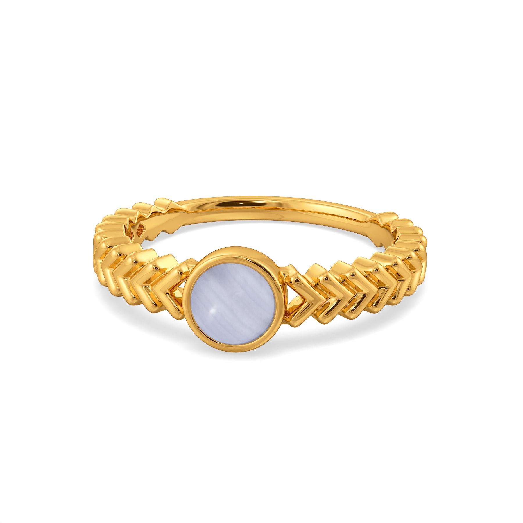 Blue Redox Gemstone Rings