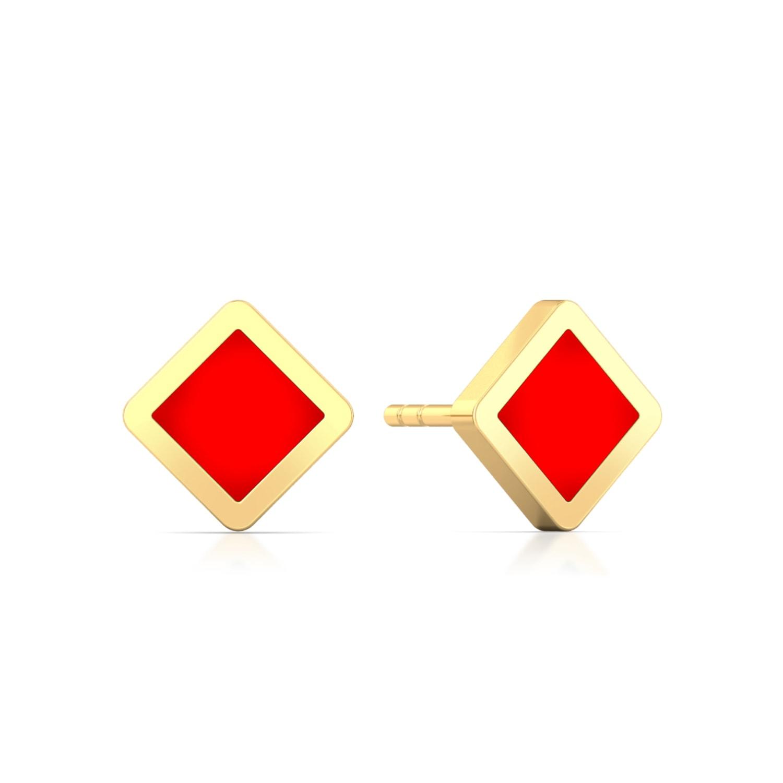 V for victory Gold Earrings
