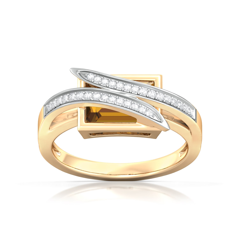Cognac Concoction Diamond Rings