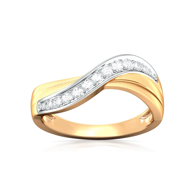 Ruffled Bow Diamond Rings