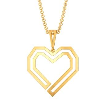 Puff Love Gold Pendants