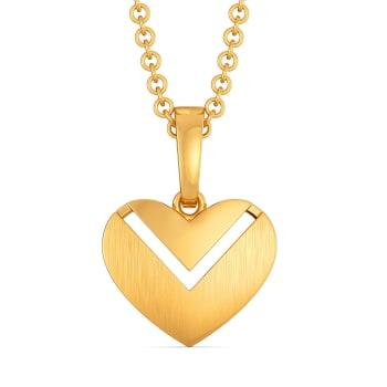 Hearts in Bougie Gold Pendants