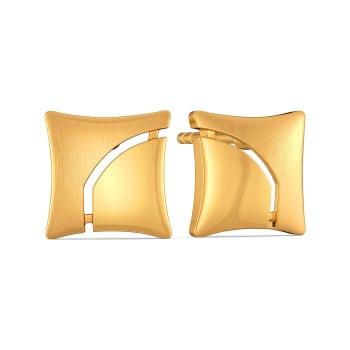 Carre Crush Gold Earrings