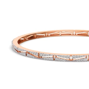 Radiant River Diamond Bangles