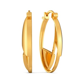Edgy Formals Gold Earrings