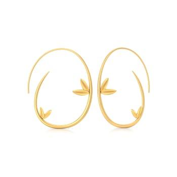Stylised Flora Gold Earrings
