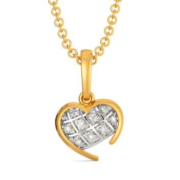Checkered Love Diamond Pendants