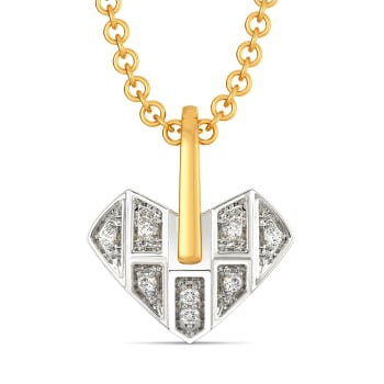 Heart Grids Diamond Pendants