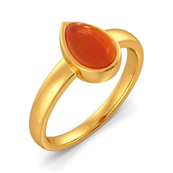 Coral Chords Gemstone Rings