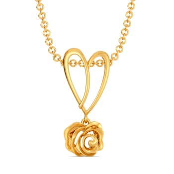 Heart of the Rose Gold Pendants