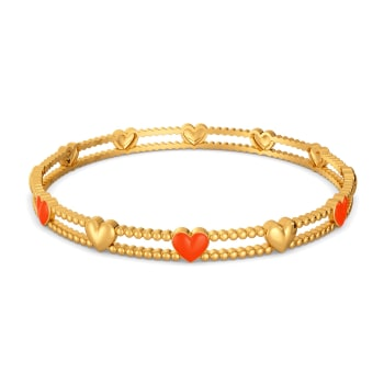 Colour Crush Gold Bangles