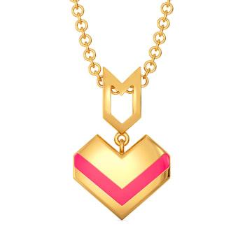 Fuscia Fondness Gold Pendants