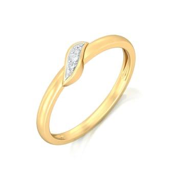 Leaf it up Diamond Rings
