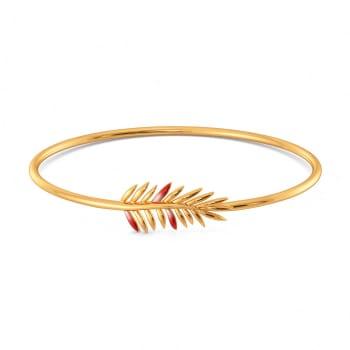 Fern N Floral Gold Bangles