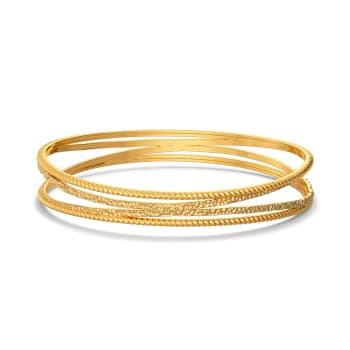 Hip and Happy Gold Bangles