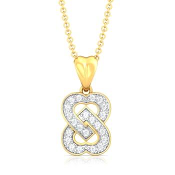 Two Hearts Diamond Pendants