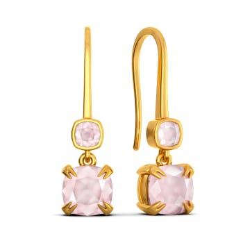 Blush On Gemstone Earrings
