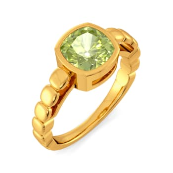 Honeydew Green Gemstone Rings