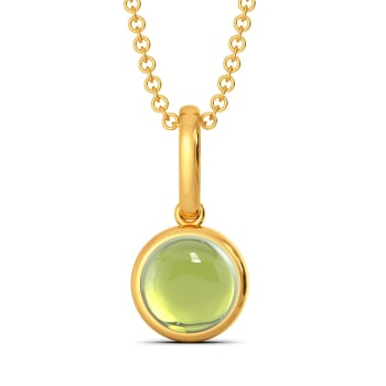 Green Sheen Gemstone Pendants