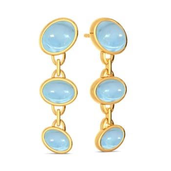 Blue Hues Gemstone Earrings