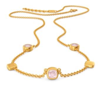 Pink Punchline Gemstone Necklaces