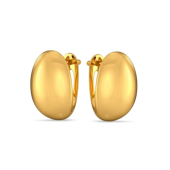 Satin Pattern Gold Earrings