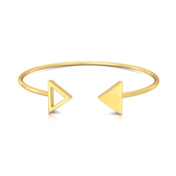 Dart Alright Gold Bangles