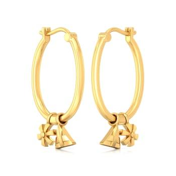 Multifaceted Gold Earrings
