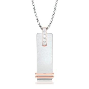 Frosted white Diamond Pendants