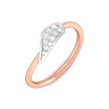 Leaf on a twig Diamond Rings