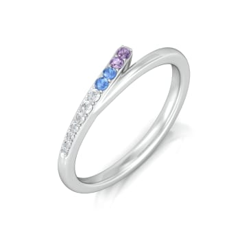 Polychrome blend Diamond Rings
