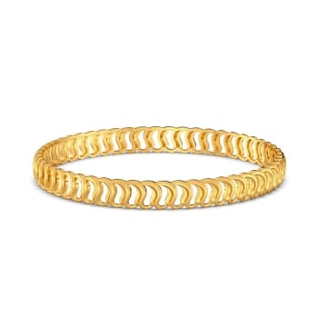 Greek Guilloche Gold Bangles