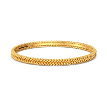 The Twill Drill Gold Bangles