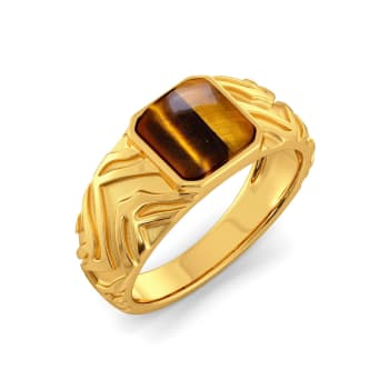 Tiger Point Gemstone Rings