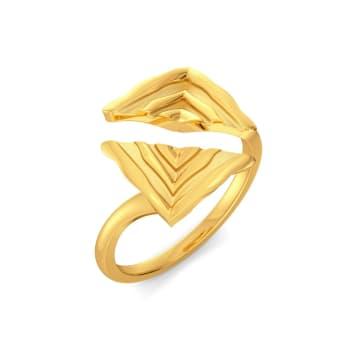 Stripe Type Gold Rings