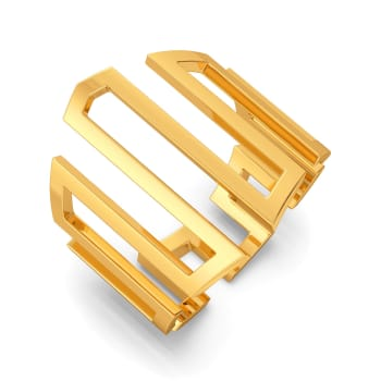 Extra Extravagant Gold Rings