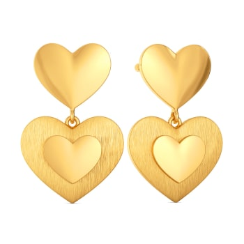 70s L'amour Gold Earrings
