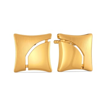 Carre Crush Gold Earrings