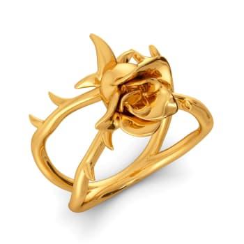 Dark Damask Gold Rings