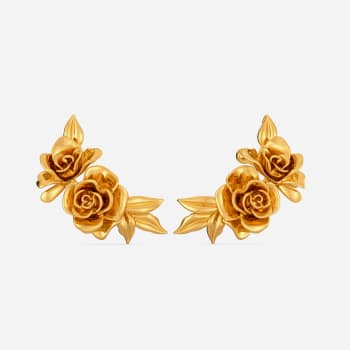 Rose Retreat Gold Earrings