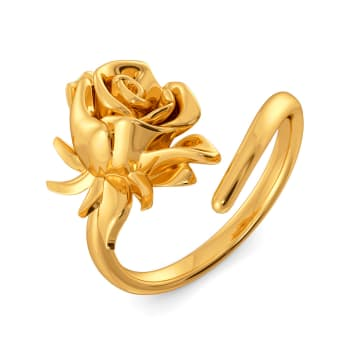 Fiery Love Gold Rings