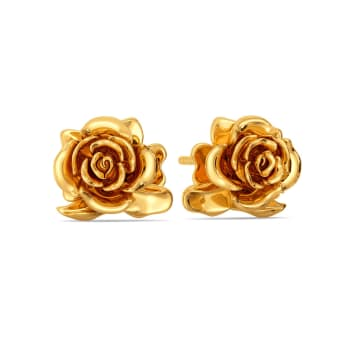 Roses N Thorns Gold Earrings