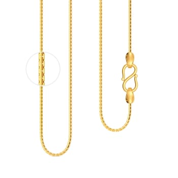 22kt Venetian V Box Chain Gold Chains